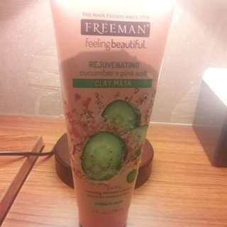 Freeman cucumber+pink salt mask