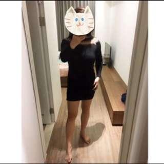 啾💋《現貨》線條設計 可拉平口 彈性 洋裝「特價 清倉價」