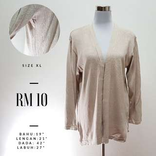 Knitted Cardigan Light Brown