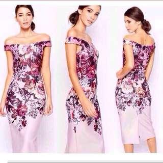 FLORAL BOCYCON DRESS