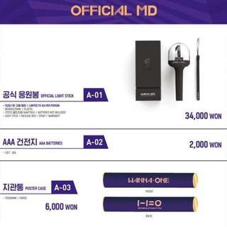 [PREORDER] WANNA ONE OFFICIAL FAN-CON MERCH, LIGHTSTICK ETC.
