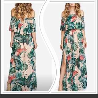 Dress maxi floral