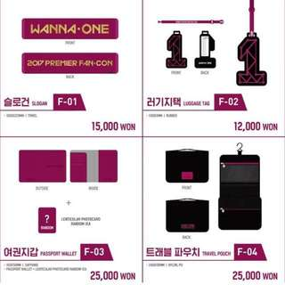 [PREORDER] WANNA ONE OFFICIAL FANCON MERCH.