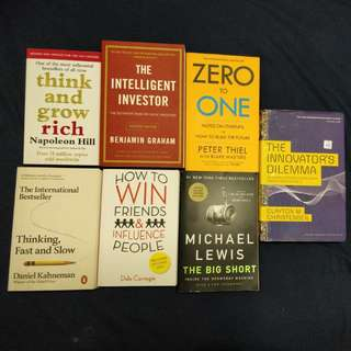 Investment and Self improvement Books