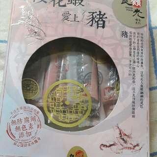 櫻花蝦愛上豬豬肉條