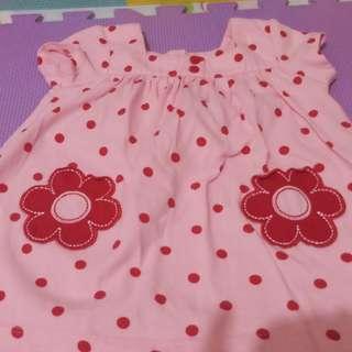 Carter's pink polka dots