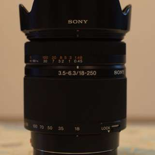 Sony 18-250mm zoom a mount lens