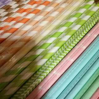 Paper party straws instocks