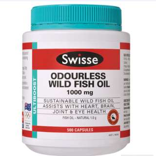 Odourless Wild Fish Oil 1000mg 500 Capsules Exclusive Size