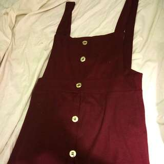 Jumper Dress Maroon