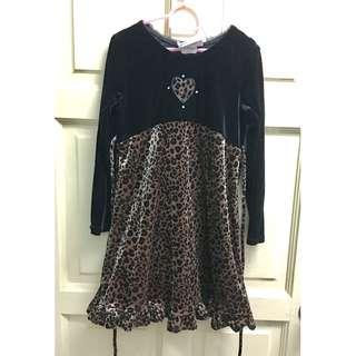 Leopard Velvet Dress 6Y