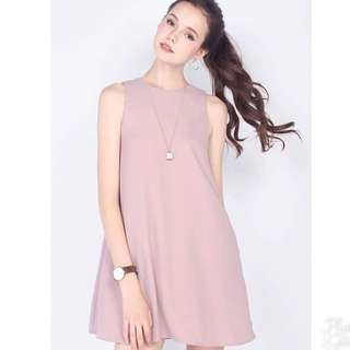 Fayth Hyde Pocket Shift Dress In Mauve