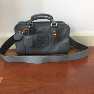 Loewe Amazona 28 Grey with Ghw Authentic pre loved