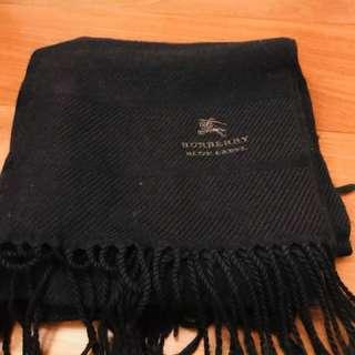 Burberry 藍標 圍巾 日本購買 黑色