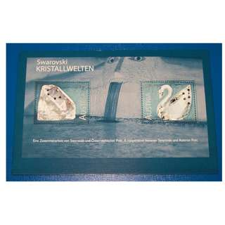 Austria 2004 Commemorative Swarovski Crystals MS 2v MNH