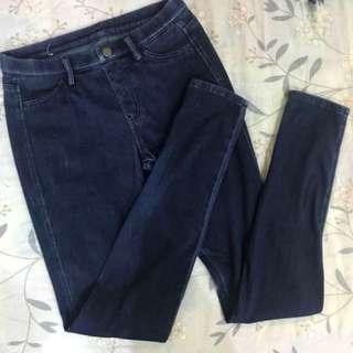 🔥降降降🔥 UNIQLO彈性長褲(深藍)
