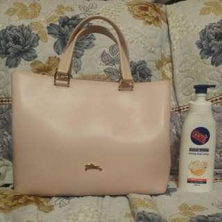 Longchamp 袋 手袋 皮 粉紅 大