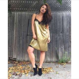 Gold TSOQ slip dress