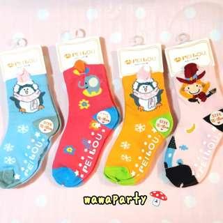 貝柔天然柔棉舒適吸汗立體造型止滑童襪