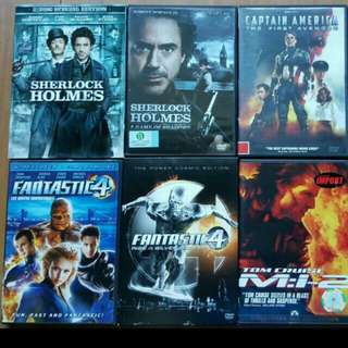 Original DVD Movies Titles (English /Chinese)