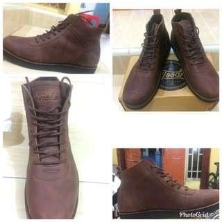 Sepatu Kulit Boot John Lath Cokelat