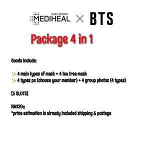 [PO/LOOSE] MEDIHEAL x BTS Loose package set