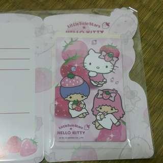 出清~7-11 Hello Kitty&雙星仙子悠遊卡(甜蜜草莓季)~現貨1張