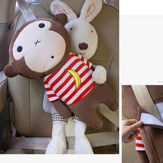 (Korea) Car Seat Belt - monkey