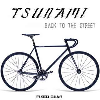 Tsunami- Back to The Street - Fixed gear  Full bike, Best option for Fixed gear beginner , multiple color options .Light weight