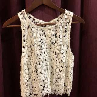 Hollister knitted overlay top
