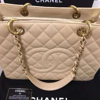 Chanel GST 荔枝皮金扣 (card 17xxx)