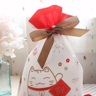 25pcs of Fortune Cat Plastic Bag for Gifts