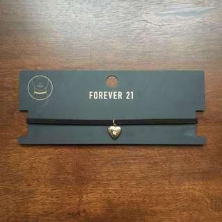 Forever 21 heart-shaped locket choker