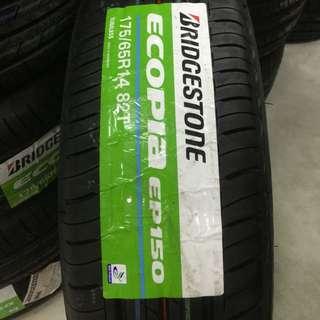 Tayar baru Bridgestone ecopia ep150 size 175/65/14
