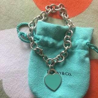 Tiffany & Co return to tiffany heart tag Enamel bracelet Lenght:20cm rrp:$635