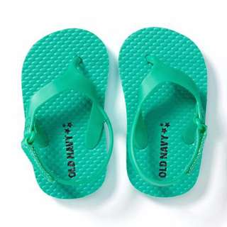 AmyGO 美國 Old Navy 童鞋 繫帶夾腳 涼鞋 沙灘鞋 人字拖 幼童款 室內 拖鞋 6-12M 10.5公分