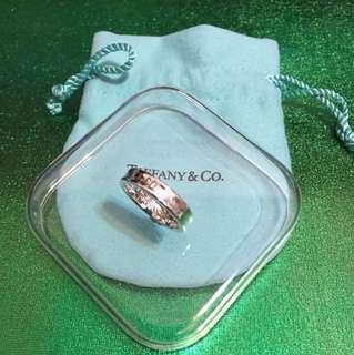 Tiffany 經典 925 銀戒指(9成新)約港度 10.5 號圈