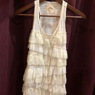 Hollister lace tank top