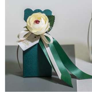 【特快出貨】全新現貨 高檔包裝森林系歐式花朵結婚喜糖盒 婚禮小物 送客禮 創意婚禮喜糖包裝 婚慶糖盒 桌上禮 喜糖盒子