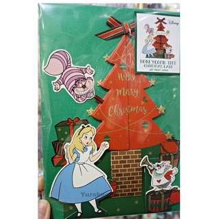 DISNEY 迪士尼 愛麗絲 ALICE 聖誕咭 妙妙貓 愛麗斯 CHRISTMAS CARD