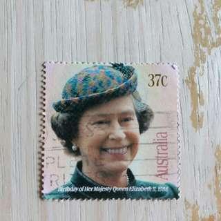 澳洲郵票1984年已銷英女皇生日郵票