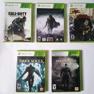 Original Xbox 360 Games (pls read description for availability)