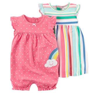 24M Carter's 2Piece Dress & Romper Set