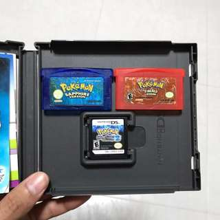 Pokemon Black 2 / FireRed / Sapphire Cartridges