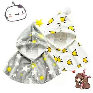 [免運]毛绒星星外套寶寶披風毛球蝙蝠衫兒童斗篷新款嬰兒嬰幼兒秋季冬季