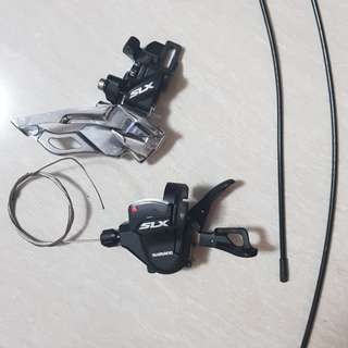 Shimano SLX 3 speed shifter and front derailleur