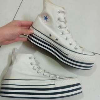 👉均一價500👈Converse 23cm 高筒厚底帆布鞋