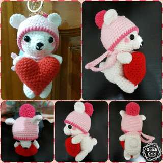 Bear crochet doll