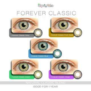 CONTACT LENSE pair with 40ml solution
