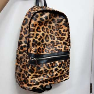 Authentic Forever 21 Animal Print Backpack Large